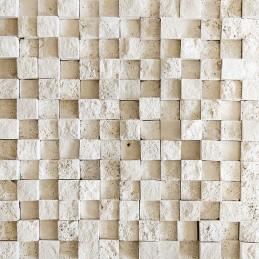 Travertin classique relief 3 D éclaté 2.3x2.3