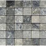 Marbre blue stone- veilli- 4,8x4,8x1cm- 0,93m²par boite- 41,86m²palette