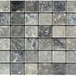 Marbre bluestone- veilli- 2,3x2,3x1cm- 0,93m²parboite-41,86m²palette