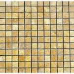 Travertin jaune- vieilli 2,3x 2,3x 1cm- 0,93m² par boite- 41,86m²palette