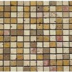 Travertin mix 4coloris- vieilli- 2,3x2,3x 1cm- 0,93m² par boite- 41,86m²palette