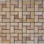 Travertin mix2coloris(cla,rose)- vieilli- (2,3x2,3+2,3x4,8)x1cm- 0,93m²par boite- 41,86m² palette