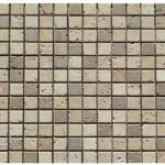 Travertin mix2coloris(classique,noce)- vieilli- 2,3x2,3x1cm- 0,93m²par boite- 41,86m²palette