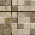 Travertin mix2coloris(classique,noce)- vieilli- 4,8x4,8x1cm- 0,93m²par boite- 41,86m²palette
