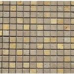Travertin mix2coloris(noce,jaune)- vieilli- 2,3x2,3x1cm- 0,93m²par boite- 41,86m²palette