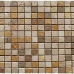Travertin mix3coloris(cla,noce,jaune)- vieilli- 2,3x2,3x1cm- 0,93m²par boite- 41,86m² palette