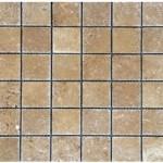 Travertin noce- veilli- 4,8x 4,8x 1cm- 0,93m²par boite- 41,86m²palette