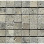 Travertin silver- veilli- 4,8x4,8x1cm- 0,93m²par boite- 41,86m²palette